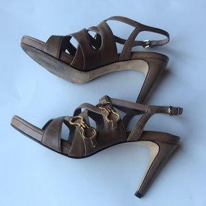 Cole Haan Shoes - Women's Cole Haan tan strappy sandal pumps 6.5